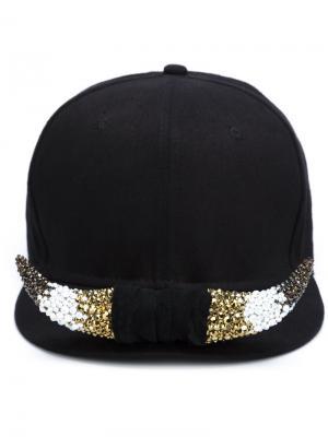 Бейсбольная кепка с украшением Piers Atkinson. Цвет: чёрный