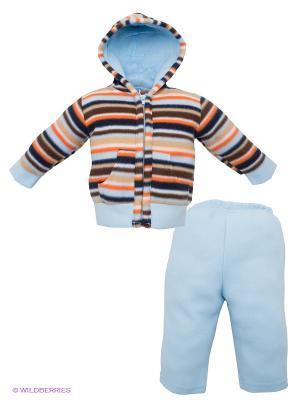 Комплект Hudson Baby. Цвет: голубой, коричневый, оранжевый