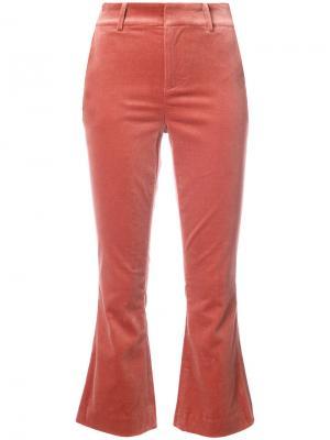 Укороченные классические брюки Frame Denim. Цвет: красный