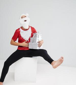 SSDD Новогодний пижамный комплект Santa. Цвет: красный
