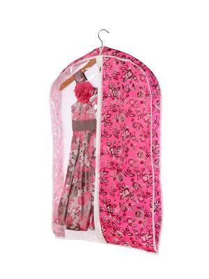 Чехол объемный для одежды малый 50х80х10см Зефирка, COFRET. Цвет: розовый