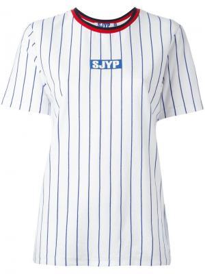 Полосатая футболка Steve J & Yoni P. Цвет: синий