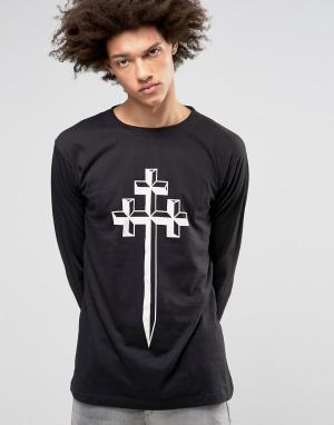 Long Clothing Лонгслив Steel. Цвет: черный