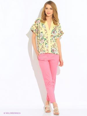 Блузка Vero moda. Цвет: светло-желтый, красный, зеленый, голубой, светло-коричневый, бледно-розовый