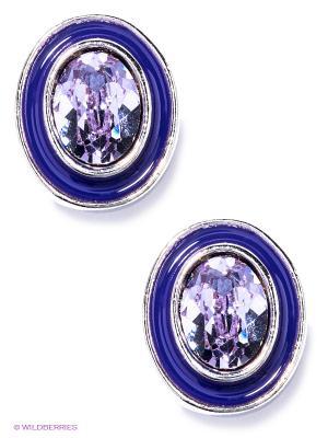 Серьги Jenavi. Цвет: серебристый, фиолетовый