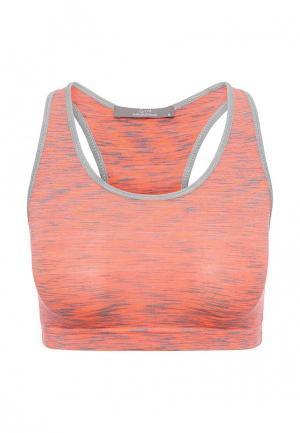 Топ спортивный Gym & Soul. Цвет: оранжевый