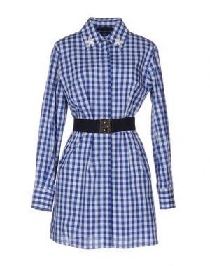 Короткое платье TENAX. Цвет: синий