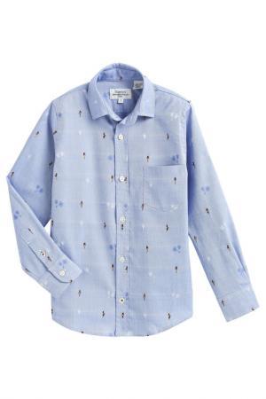 Рубашка HARTFORD. Цвет: синий
