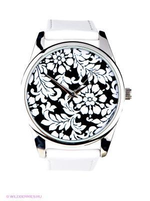 Часы Узоры Mitya Veselkov. Цвет: белый, черный