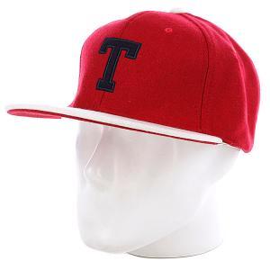 Бейсболка True Spin T Wool Red/White TrueSpin. Цвет: красный,белый