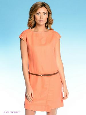 Платье Vilatte. Цвет: коралловый
