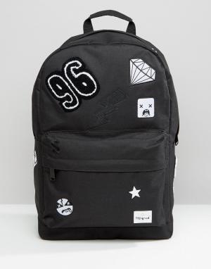 Spiral Рюкзак с нашивками. Цвет: черный