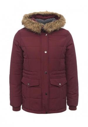 Куртка утепленная Springfield. Цвет: бордовый