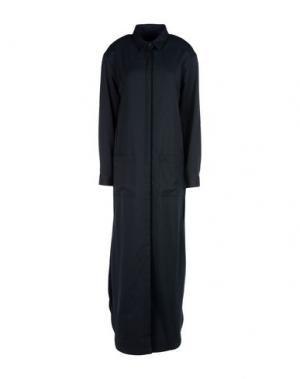 Длинное платье JI OH. Цвет: темно-синий