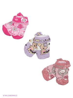 Носки - 3 пары Malerba. Цвет: розовый