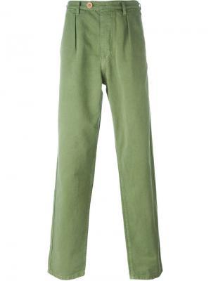Брюки с накладными карманами Bleu De Paname. Цвет: зелёный