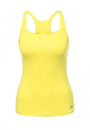 Майка спортивная Wilson. Цвет: желтый