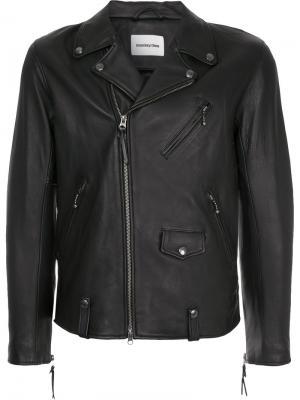 Классическая байкерская куртка monkey time. Цвет: чёрный