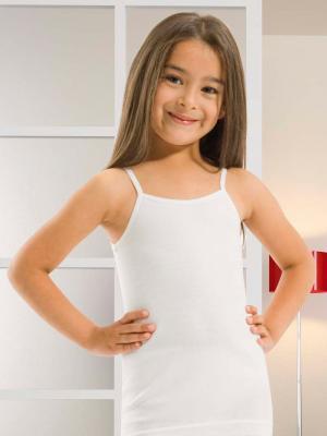 Майка для девочек Oztas kids' underwear. Цвет: белый