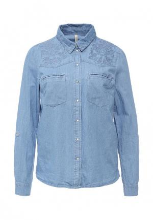 Рубашка джинсовая Bestia. Цвет: синий