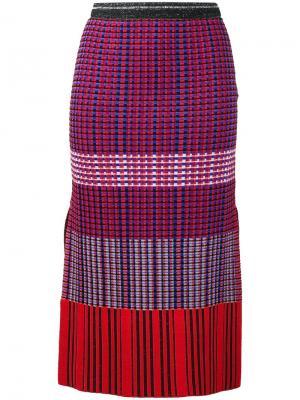 Трикотажная юбка-карандаш Proenza Schouler. Цвет: красный