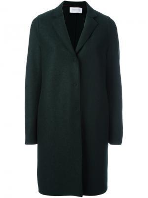 Пальто с потайной застежкой Harris Wharf London. Цвет: зелёный