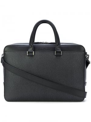 Классический рюкзак Salvatore Ferragamo. Цвет: серый