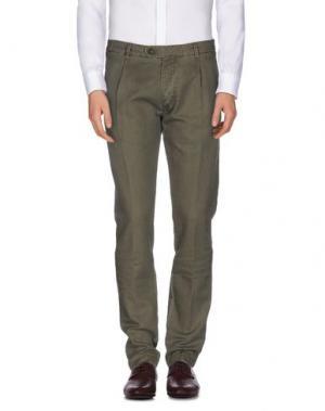 Повседневные брюки MESSAGERIE. Цвет: зеленый-милитари