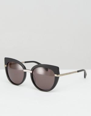 Marc By Jacobs Солнцезащитные очки кошачий глаз. Цвет: черный