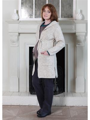 Кардиган-пальто Мамуля красотуля. Цвет: темно-бежевый, бежевый