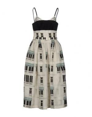 Длинное платье DANIELE CARLOTTA. Цвет: слоновая кость