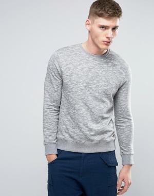 Esprit Серый базовый свитшот с круглым вырезом. Цвет: серый