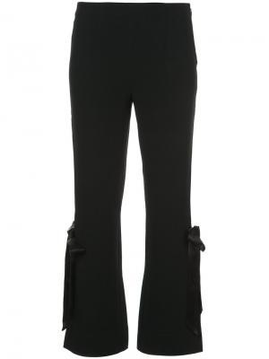 Укороченные брюки с лентой по бокам Cinq A Sept. Цвет: чёрный