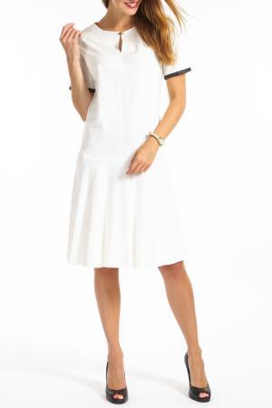 Платье TOK. Цвет: белый