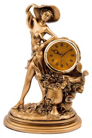 Часы настольные 26x16x36 см Русские подарки. Цвет: бронзовый