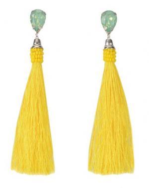 Серьги IDEAS 108. Цвет: желтый