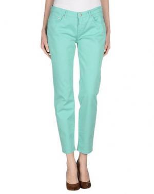 Повседневные брюки UP ★ JEANS. Цвет: светло-зеленый