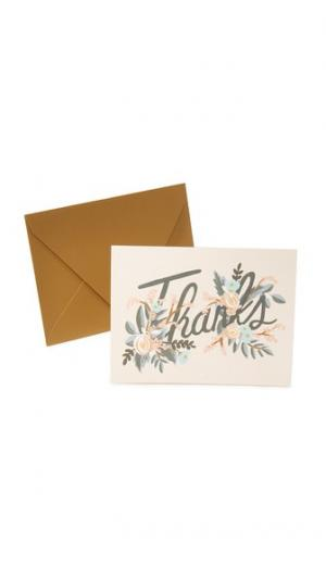 Благодарственные открытки Woodland Rifle Paper Co