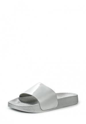 Шлепанцы Style Shoes. Цвет: серебряный