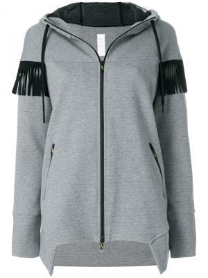 Пальто на молнии с капюшоном Sàpopa. Цвет: серый