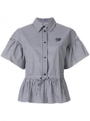 Рубашка с объемными рукавами McQ Alexander McQueen. Цвет: чёрный