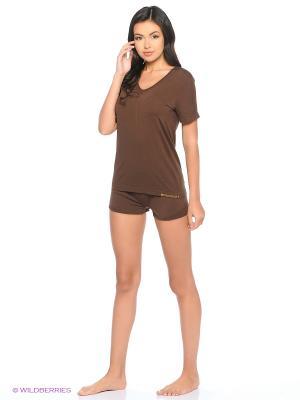 Пижама Brubeck. Цвет: коричневый