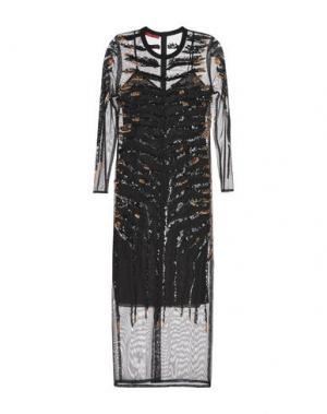 Длинное платье TAMARA MELLON. Цвет: черный