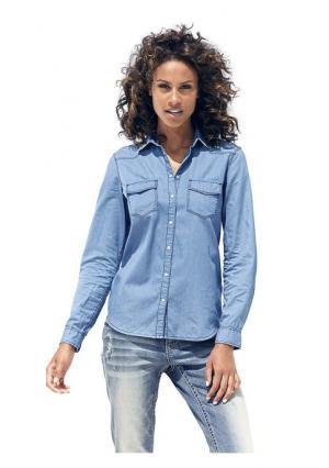 Джинсовая рубашка B.C. BEST CONNECTIONS. Цвет: варенка