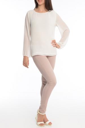Блуза MoNaMod. Цвет: белый