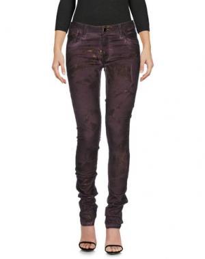 Джинсовые брюки AARCC. Цвет: темно-фиолетовый