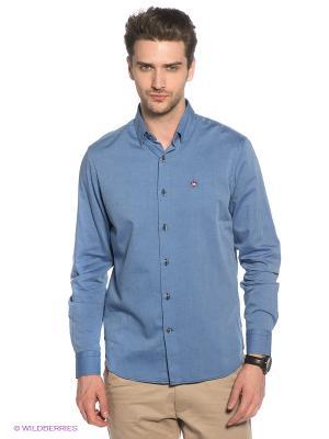Рубашка Marville. Цвет: голубой