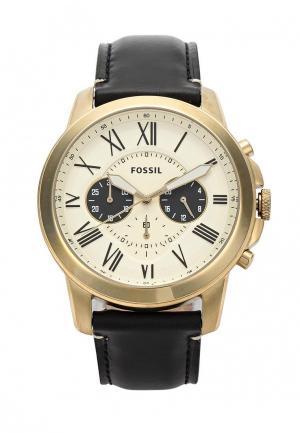 Часы Fossil. Цвет: золотой