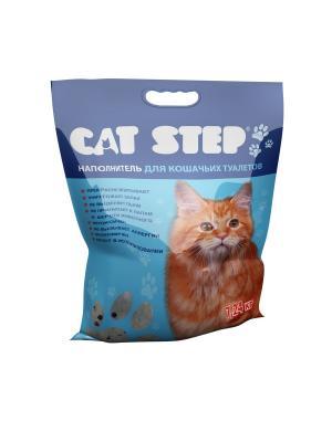Силикагель 15,2л наполнитель для кошачьих туалетов. CAT STEP. Цвет: прозрачный