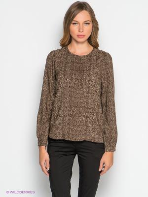 Блузка TOM FARR. Цвет: коричневый